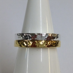 68435 - Handmade 18ct Vermeil & Silver 2 piece Ring set in Sterling Silver